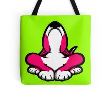 English Bull Terrier After A Hard Day Shocking Pink and White Tote Bag
