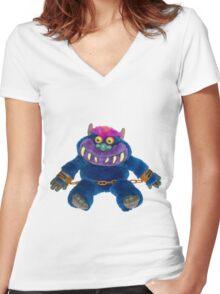 My Pet Monster Women's Fitted V-Neck T-Shirt