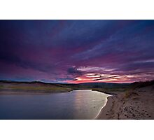 Inverness Beach River Sunrise Photographic Print