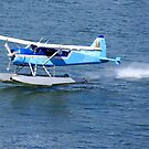 Float plane, taking off from water by cascoly
