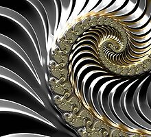 SILVER FRACTAL , 3D, heavy metal SKINS, GIFTS, DECOR  by ackelly4