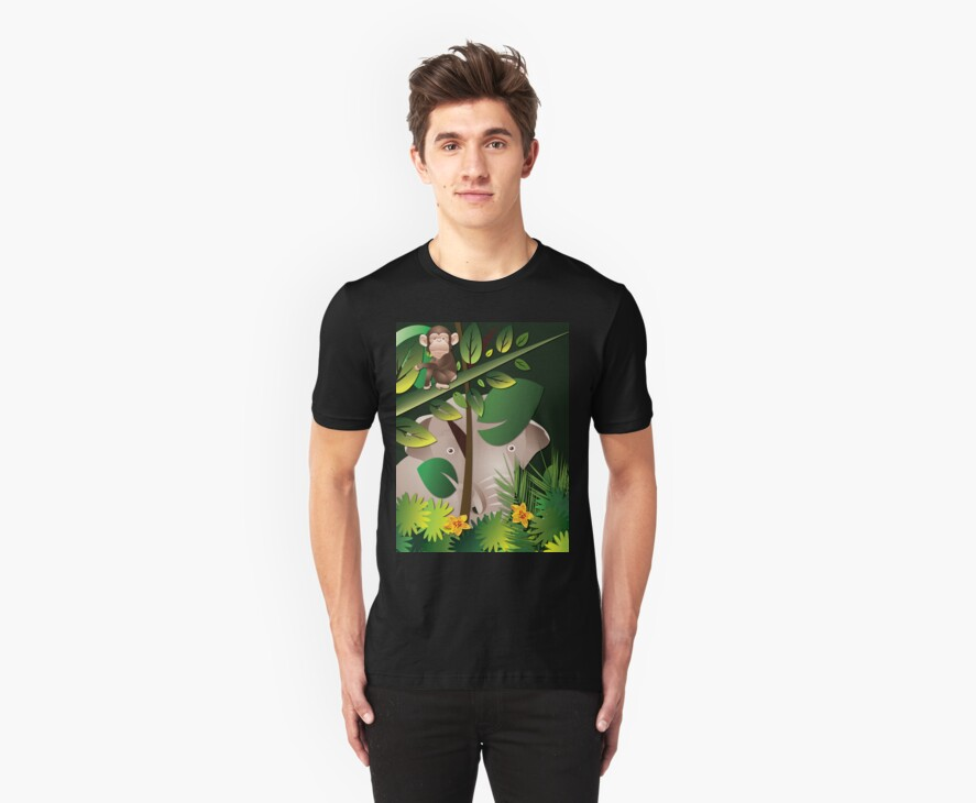 African Jungle T-Shirt II by Lesley Smitheringale