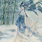 Yuki onna Snow girl Japanese mythology  by meomeo