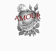 Amour Heart Rose Unisex T-Shirt