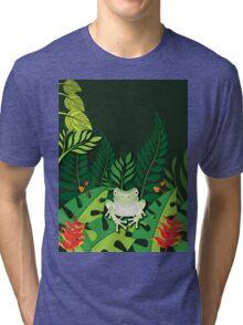 Green Tree Frog T-Shirt Tri-blend T-Shirt