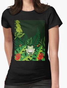 Green Tree Frog T-Shirt Womens Fitted T-Shirt