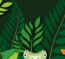 Green Tree Frog T-Shirt Sticker