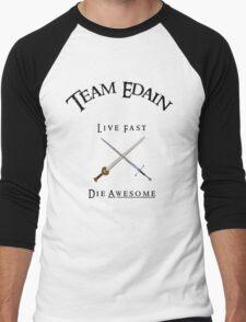 Team Edain - Live Fast, Die Awesome  Men's Baseball ¾ T-Shirt