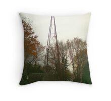 Old Farm windmill Throw Pillow