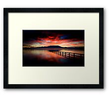 Red Saturday Framed Print