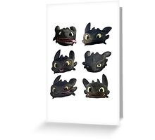 Toothless Faces Greeting Card