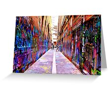 Bourke Street Mall - Alley 1 Greeting Card