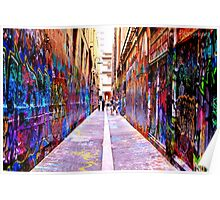Bourke Street Mall - Alley 1 Poster