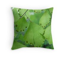 Maidenhair Macro Throw Pillow