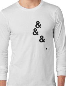 &&&. (black) Long Sleeve T-Shirt