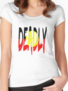 Deadly - Indigenous Australia Women's Fitted Scoop T-Shirt