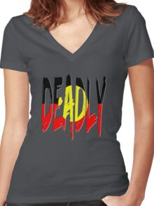 Deadly - Indigenous Australia Women's Fitted V-Neck T-Shirt