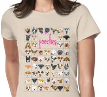 pooch tee Womens Fitted T-Shirt