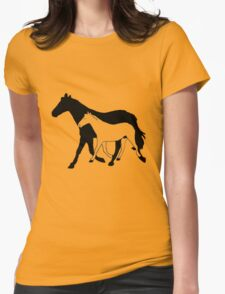 Horses Tee retro vintage seventies style Womens Fitted T-Shirt
