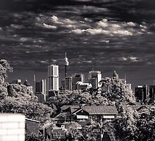 Sydney Grunge skyline by Chris Hood