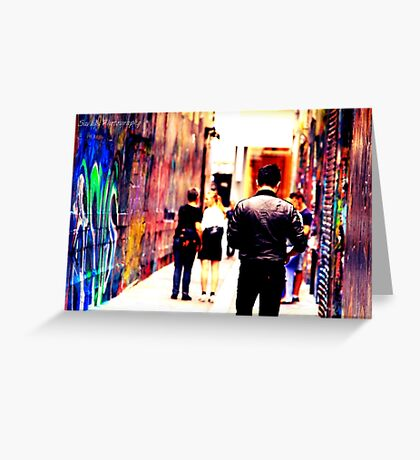 Bourke Street Mall - Alley 2 Greeting Card