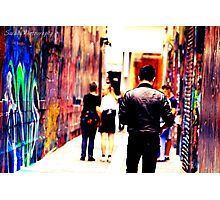 Bourke Street Mall - Alley 2 Photographic Print