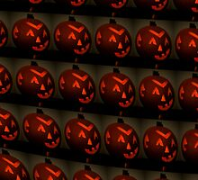 Wall of Jack O' Lanterns by Lisa Taylor