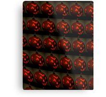 Wall of Jack O' Lanterns Metal Print