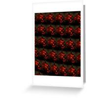 Wall of Jack O' Lanterns Greeting Card