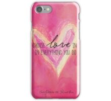 Choose Love Always iPhone Case/Skin