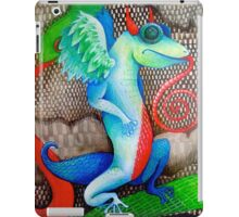 dragon lizard tattoo style art iPad Case/Skin