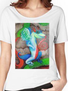 dragon lizard tattoo style art Women's Relaxed Fit T-Shirt