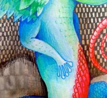 dragon lizard tattoo style art Sticker
