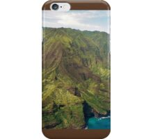 The Na Pali Coast from a Helicopter iPhone Case/Skin