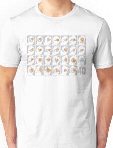 Kamen Rider 40th Anniversary 1971-2011 (Grey and Orange) Unisex T-Shirt