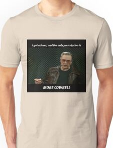 More Cowbell SNL Christopher Walken Shirt Unisex T-Shirt