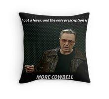 More Cowbell SNL Christopher Walken Shirt Throw Pillow