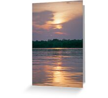 Sunset on the Amazon River, Brazil Greeting Card