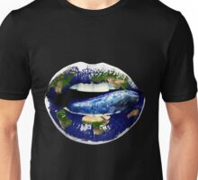 "Title: ""I need more Sex"" Angelina Jolie, Earth Lips,Ocean Tongue Unisex T-Shirt"