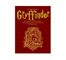 Gryffindor Harry Potter House Poster Art Print