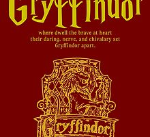 Gryffindor Harry Potter House Poster by geekchicprints