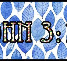 John 3:16 Bold Blue by Christian-Tees