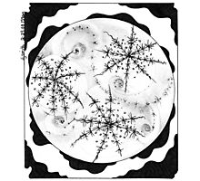 Snowflake, Abstract Doodle, Pen and Ink Photographic Print