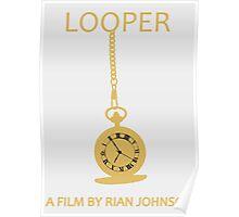 Looper Minimalist Movie Design Poster