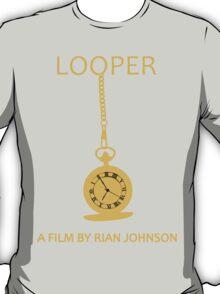 Looper Minimalist Movie Design T-Shirt