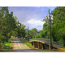 Country Road in Auburn Photographic Print