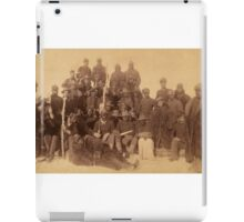Buffalo soldiers of the 25th Infantry, some wearing buffalo robes, Ft. Keogh, Montana 1889 iPad Case/Skin