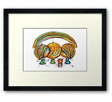 A Rainbow of Angels Framed Print