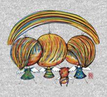 A Rainbow of Angels TShirt One Piece - Long Sleeve