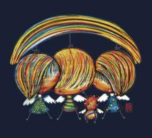 A Rainbow of Angels TShirt One Piece - Short Sleeve